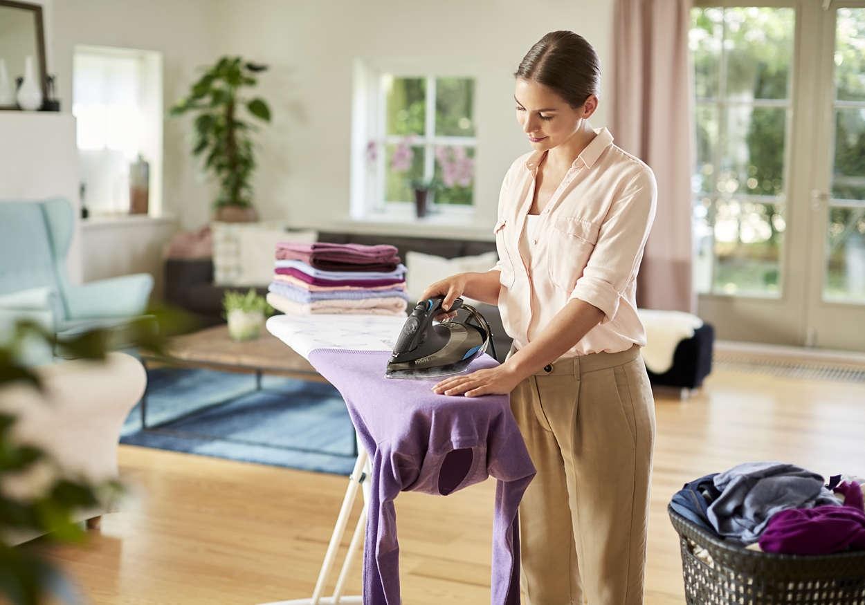 Щоб тканина була м'якше, використовує отпариватель.