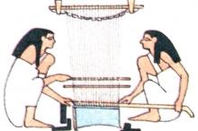 Первый вертикальный ткацкий станок появился в Древнем Египте.